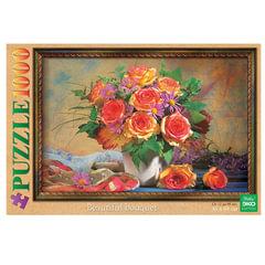 Пазл STANDARD, 1000 элементов, А2, КРАФТ ЭКО, «Букет цветов», 450×680 мм, 1000ПЗ2 05278