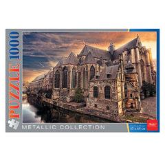 Пазл STANDARD, 1000 элементов, А2, «Металлик-Собор», 450×680 мм, 1000ПЗ2мт 12405