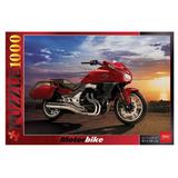 Пазл STANDARD, 1000 элементов, А2, «Мотоцикл на закате», 450×680 мм, 1000ПЗ2 03120