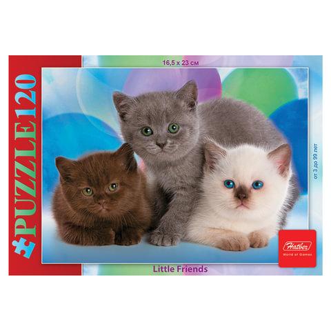 "Пазл STANDARD, 120 элементов, А5, ""Три котенка"", 165х230 мм, 120ПЗ5 07186"