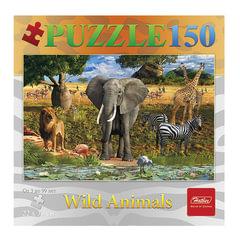 Пазл STANDARD, 150 элементов, А4, «Животные саванны», 220×330 мм, 150ПЗ4 12234
