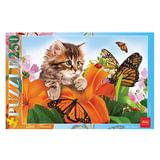 Пазл STANDARD, 250 элементов, А3, «Котенок в цветах», 280×400 мм, 250ПЗ3 10139