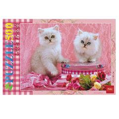 Пазл STANDARD, 500 элементов, А2, «Белые котята», 340×460 мм, 500ПЗ2 09736