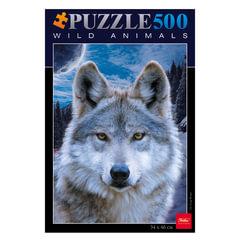 Пазл STANDARD, 500 элементов, А2, «Волк», 340×460 мм, 500ПЗ2 08264
