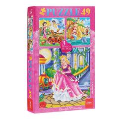 Пазл в наборе, 49 элементов, А5, 3 в 1, «Сказки для девочек», 190×190 мм, 49ПЗ5 10669