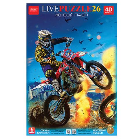 "Пазл в рамке, 26 элементов, А4, ""4D-Мотоцикл"", 200х300 мм, 26ПЗ4 15414"