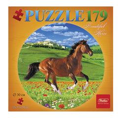 Пазл круглый, 179 элементов, А4, «Грациозная лошадь», диаметр 300 мм, 179ПЗк4 11265