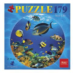 Пазл круглый, 179 элементов, А4, «Океан», диаметр 300 мм, 179ПЗк4 04109
