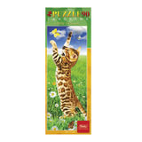 Пазл-панорама, 90 элементов, А4, «Котенок с бабочкой», 290×110 мм, 90ПЗ4 02861