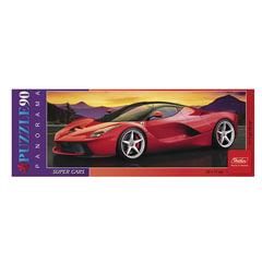 Пазл-панорама, 90 элементов, А4, «Спортивный автомобиль», 290×110 мм, 90ПЗ4 12842