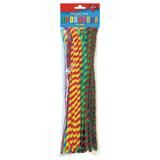 Проволока синельная для творчества «Пушистая», спираль двухцветная, 50 штук, 30 см, ассорти