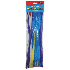 Проволока синельная для творчества «Пушистая», перья однотонные, 40 штук, 30 см, ассорти