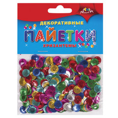 Материалы для творчества АППЛИКА «Декоративные пайетки», хризантемы
