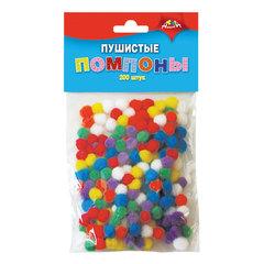 Материалы для творчества АППЛИКА «Пушистые помпоны», 7 цветов, диаметр 8 мм, 200 шт.