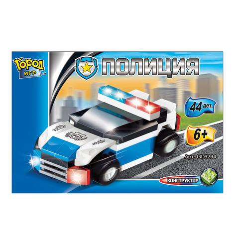 """Конструктор пластиковый """"Police"""", патруль гоночный, 44 детали, SuperBlock"""
