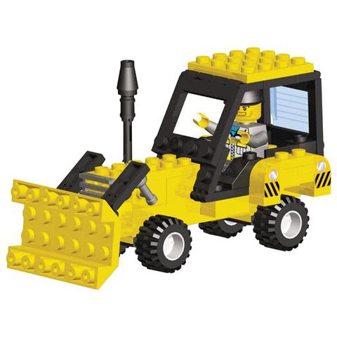 """Конструктор пластиковый Трактор М """"Большая стройка"""", 98 деталей, SuperBIock"""