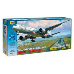 Модель для склеивания САМОЛЕТ, «Авиалайнер пассажирский американский Боинг 777-300ER», 1:144, ЗВЕЗДА, 7012