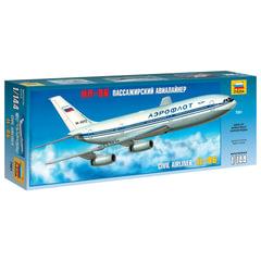 Модель для склеивания САМОЛЕТ, «Авиалайнер пассажирский российский Ил-86», масштаб 1:144, ЗВЕЗДА, 7001