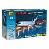 Модель для склеивания САМОЛЕТ, «Авиалайнер пассажирский российский Ту-154М», масштаб 1:144, ЗВЕЗДА, 7004