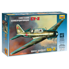 Модель для склеивания САМОЛЕТ «Бомбардировщик советский Су-2», масштаб 1:48, ЗВЕЗДА, 4805