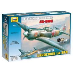Модель для склеивания САМОЛЕТ, «Истребитель советский Ла-5ФН», масштаб 1:48, ЗВЕЗДА, 4801