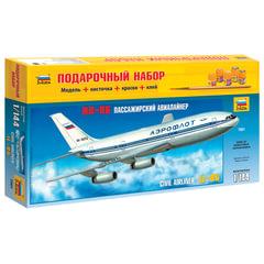Модель для склеивания НАБОР САМОЛЕТ, «Авиалайнер пассажирский Ил-86», масштаб 1:144, ЗВЕЗДА, 7001П