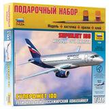Модель для склеивания НАБОР САМОЛЕТ, «Авиалайнер пассажирский Суперджет 100», 1:144, ЗВЕЗДА, 7009П