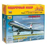 Модель для склеивания НАБОР САМОЛЕТ, «Авиалайнер пассажирский Ту-134А/<wbr/>Б-3», 1:144, ЗВЕЗДА, 7007П