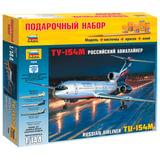 Модель для склеивания НАБОР САМОЛЕТ, «Авиалайнер пассажирский Ту-154М», масштаб 1:144, ЗВЕЗДА, 7004П