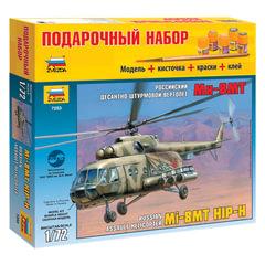 Модель для склеивания НАБОР ВЕРТОЛЕТ «Десантно-штурмовой российский Ми-8МТ», масштаб 1:72, ЗВЕЗДА, 7253П