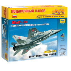 Модель для склеивания НАБОР САМОЛЕТ, «Истребитель-перехватчик советский МиГ-31», 1:72, ЗВЕЗДА, 7229П