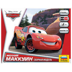 Модель для сборки «Тачки. Маккуин», масштаб 1:43, по лицензии Disney, ЗВЕЗДА, 2012
