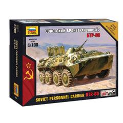 Модель для сборки АВТО «Бронетранспортер советский БТР-80», масштаб 1:100, ЗВЕЗДА, 7401