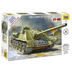 Модель для сборки САУ советская СУ-100, масштаб 1:72, ЗВЕЗДА, 5044