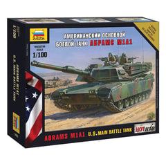 """Модель для сборки ТАНК «Основной американский M1A1 """"Абрамс», масштаб 1:100, ЗВЕЗДА, 7405"""