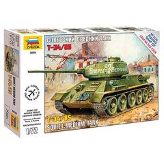 Модель для сборки ТАНК «Средний советский Т-34/<wbr/>85», масштаб 1:72, ЗВЕЗДА, 5039