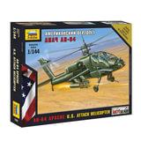 """Модель для склеивания ВЕРТОЛЕТ «Ударный американский AH-64 »Апач"""", масштаб 1:72, ЗВЕЗДА, 7408"""