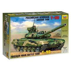Модель для склеивания ТАНК «Основной российский Т-90», масштаб 1:72, ЗВЕЗДА, 5020