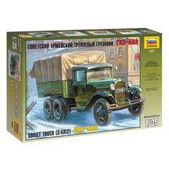 Модель для склеивания АВТО «Автомобиль грузовой советский трехосный ГАЗ-ААА», масштаб 1:35, ЗВЕЗДА, 3547