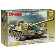 Модель для склеивания САУ советская СУ-100, масштаб 1:35, ЗВЕЗДА, 3531