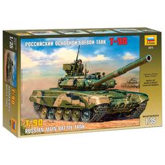 Модель для склеивания ТАНК «Основной российский Т-90», масштаб 1:35, ЗВЕЗДА, 3573