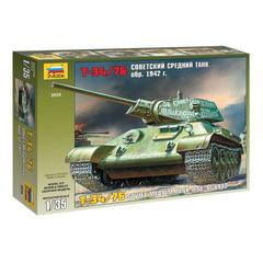 Модель для склеивания ТАНК «Средний советский Т-34/<wbr/>76 образца 1942», масштаб 1:35, ЗВЕЗДА, 3535
