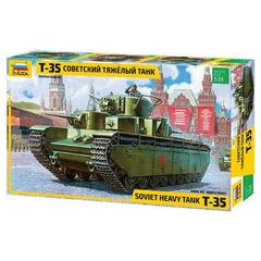 Модель для склеивания ТАНК «Тяжелый советский Т-35», масштаб 1:35, ЗВЕЗДА, 3667