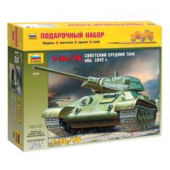 Модель для склеивания набор ТАНК «Средний советский Т-34/<wbr/>76 образца 1942», масштаб 1:35, ЗВЕЗДА, 3535П