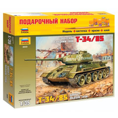 Модель для склеивания набор ТАНК «Средний советский Т-34/<wbr/>85 образца 1944», масштаб 1:35, ЗВЕЗДА, 3533П