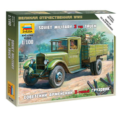 Модель для сборки АВТО «Автомобиль грузовой советский ЗИС-5», масштаб 1:100, ЗВЕЗДА, 6124