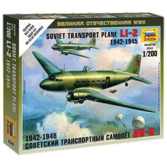 Модель для сборки САМОЛЕТ «Транспортный советский Ли-2», масштаб 1:200, ЗВЕЗДА, 6140