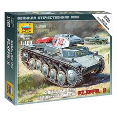 Модель для сборки ТАНК «Легкий немецкий T-II (Pz.Kpfw. II)», масштаб 1:100, ЗВЕЗДА, 6102