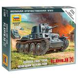 Модель для сборки ТАНК «Легкий немецкий LT-38», масштаб 1:100, ЗВЕЗДА, 6130