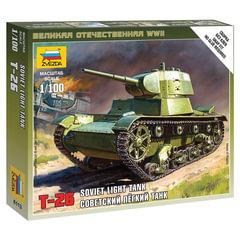 Модель для сборки ТАНК «Легкий советский Т-26», масштаб 1:100, ЗВЕЗДА, 6113